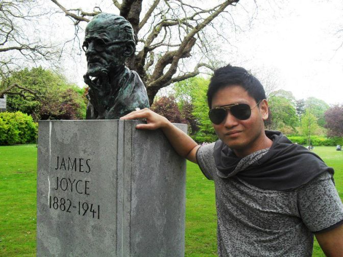 James Joyce Bust at St. Stephen's Green, Dublin (2012)
